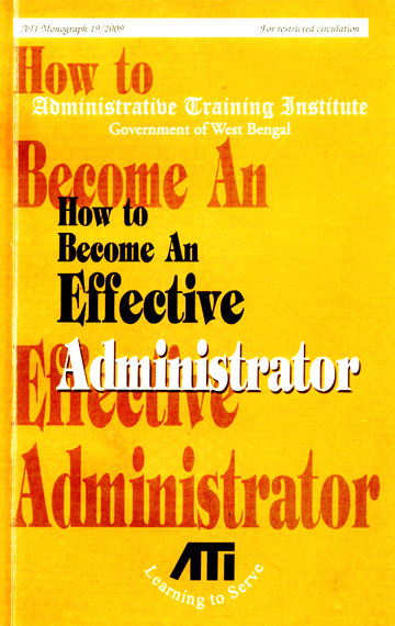 Edited Administrative Training Institute Monographs 1-20. Kolkata. 2005-9